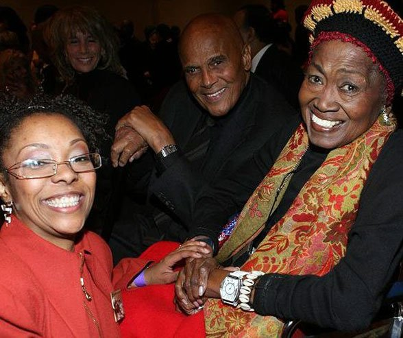 Odetta-and-Sonya-and-Harry-Belafonte-and-Pam Frank