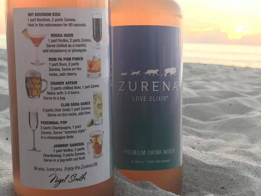 Zurena bottle on the beach