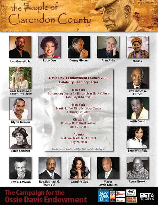 Ossie Davis Endowment with Alan Alda, Lou Gossett. Jr, Lynn Whitfield, Keith David, Avery Brooks, Mayor David Dinkins, Laura Turner Sydel, Sonia Sanchez