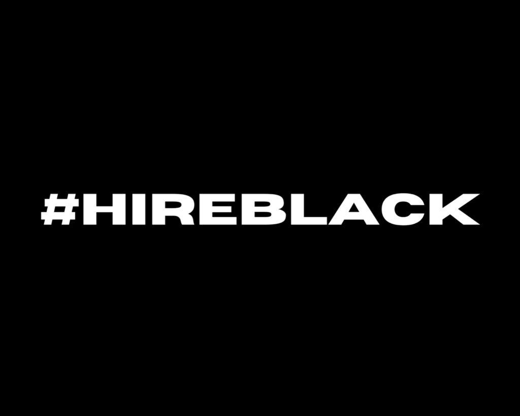 Hire black hashtag logo